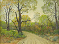 Texas:Early Texas Art - Regionalists, DWIGHT HOLMES (1900-1986). Pecan Trees #1 Fall at Ben Ficklin,TX, 1964. Oil on canvasboard. 12in. x 16in.. Signed and d...