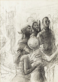 JOHN BIGGERS (1924-2001) Imomolu, 1965 Graphite 18in. x 13in. Signed, dated, and titled lower left  John Biggers i