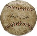 "Autographs:Baseballs, Circa 1920 ""Babe"" Ruth Single Signed Baseball. While we can't be entirely certain of the year that the Babe applied his sig..."