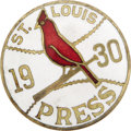 Baseball Collectibles:Others, 1930 World Series Press Pin (St. Louis Cardinals). A third NationalLeague Championship season for the red birds, though th...