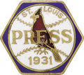 Baseball Collectibles:Others, 1931 World Series Press Pin (St. Louis Cardinals). The Cardinalsavenged their loss to the Philadelphia Athletics the previ...