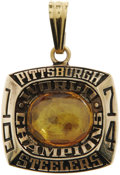 Football Collectibles:Others, 1974 Pittsburgh Steelers World Championship Pendant. The first Super Bowl appearance for the Steelers, whose memorable squa...