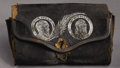 Political:3D & Other Display (pre-1896), Garfield & Arthur: Unusual Jugate Leather Change Purse....