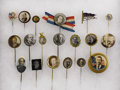 Political:Pinback Buttons (1896-present), Political Stickpins: Fine Collection of Nineteen Different,...(Total: 19 Items)