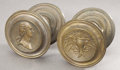 Political:3D & Other Display (pre-1896), George Washington: Fine Pair of Federal-Era Bronze Drawer Pulls....(Total: 2 Items)