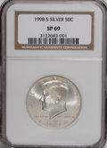SMS Kennedy Half Dollars: , 1998-S 50C SMS MS69 NGC. . NGC Census: (643/205). PCGS Population (1447/151). Numismedia Wsl. Price for NGC/PCGS coin in M...