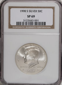 1998-S 50C SMS MS69 NGC. . NGC Census: (643/205). PCGS Population (1447/151). Numismedia Wsl. Price for NGC/PCGS coin in...