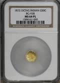 California Fractional Gold, 1872 50C BG-938 MS64 Prooflike NGC. (#710796)...