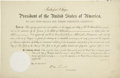 Autographs:U.S. Presidents, Rutherford B. Hayes Document Signed... (Total: 2 Items)