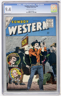 Cowboy Western #56 (Charlton, 1955) CGC NM 9.4 Cream to off-white pages