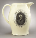 "Political:3D & Other Display (pre-1896), Thomas Jefferson: Rare Contemporary Liverpool Jug in Massive 9.75""Size...."