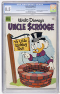 Golden Age (1938-1955):Funny Animal, Uncle Scrooge #7 (Dell, 1954) CGC VF+ 8.5 Off-white to whitepages....