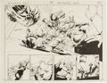 Original Comic Art:Splash Pages, John Cassaday - Astonishing X-Men #16, Double-Page Spread, pages 2and 3 Original Art (Marvel, 2004).... (Total: 2 Items)