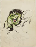 Original Comic Art:Sketches, John Byrne - The Hulk Sketch Original Art (1978)....