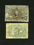 Fractional Currency:Second Issue, Fr. 1283SP 25c Narrow Margin Pair Second Issue New.... (Total: 2 notes)