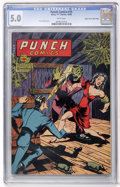 Golden Age (1938-1955):Superhero, Punch Comics #15 Mile High pedigree (Chesler, 1945) CGC VG/FN 5.0 White pages....
