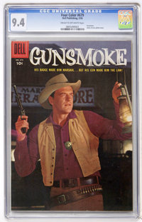 Four Color #679 Gunsmoke (Dell, 1956) CGC NM 9.4 Cream to off-white pages