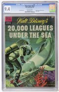 Golden Age (1938-1955):Miscellaneous, Four Color #614 20,000 Leagues Under the Sea (Dell, 1955) CGC NM 9.4 Off-white pages....