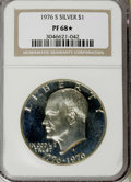 Proof Eisenhower Dollars, 1976-S $1 Silver PR68 ★ NGC. . NGC Census: (48/11). PCGS Population(56/2). Mintage: 4,000...