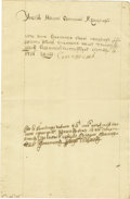"Autographs:Non-American, Elizabeth of Russia Document Signed ""Elizabeth"", one page inRussian, 8"" x 12.25"", September 20, 1737, n.p. Elizabeth (1..."