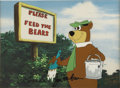 Animation Art:Production Cel, Yogi Bear Hand-Painted Limited Edition Cel Signed (Hanna-Barbera,undated)....