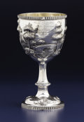 Silver Holloware, American:Cups, AN AMERICAN SILVER PRESENTATION CUP. Unknown maker, possibly NewYork, New York, circa 1890. Unmarked . 8 inches high x 4-1/...