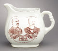 Political:3D & Other Display (pre-1896), Cleveland & Stevenson: Great 1892 Dated Campaign Pitcher. ...