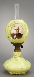Political:3D & Other Display (1896-present), William McKinley: Superb and Extremely Rare Glass PoliticalCampaign Lamp....