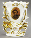 Political:3D & Other Display (pre-1896), John C. Frémont: Rare Civil War-Period Vase Depicting the 1856 and1864 Presidential Candidate....