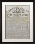 Political:Small Paper (pre-1896), Stephan Douglas: Campaign Edition from the Cleveland Plain Dealer,...