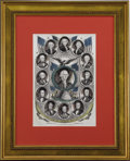 Political:Miscellaneous Political, Presidents of the United States, Washington to Fillmore,Hand-Tinted Lithograph,...