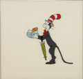 "Animation Art:Production Cel, ""The Cat in the Hat"" Production Cel Original Art (Chuck JonesProductions/DePatie-Freleng, 1971)...."