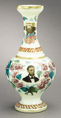 Political:3D & Other Display (pre-1896), Abraham Lincoln: Simply Stunning Multicolor Civil War Period Vase....