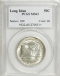 Commemorative Silver: , 1936 50C Long Island MS63 PCGS. PCGS Population (1194/3373). NGCCensus: (426/2934). Mintage: 81,826. Numismedia Wsl. Price...