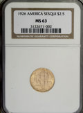 Commemorative Gold, 1926 $2 1/2 Sesquicentennial MS63 NGC....