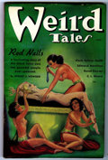 "Pulps:Horror, Weird Tales ""Red Nails"" Group (Popular Fiction, 1936) Condition: FNunless otherwise stated.... (Total: 3 Comic Books)"