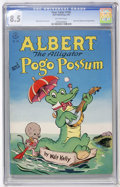 Golden Age (1938-1955):Funny Animal, Four Color #105 Albert the Alligator and Pogo Possum (Dell, 1946)CGC VF+ 8.5 Off-white pages....