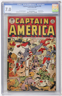 Captain America Comics #46 (Timely, 1945) CGC FN/VF 7.0 Off-white to white pages