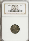 Bust Dimes, 1829 10C Small 10C MS62 NGC....