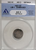 Early Half Dimes, 1803 H10C Small 8--Damaged--ANACS. AG3 Details....