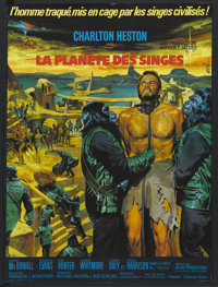 "Planet of the Apes (20th Century Fox, 1968). French Petite (23.5"" X 31.5""). Science Fiction"