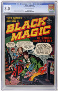 Golden Age (1938-1955):Horror, Black Magic #1 (Prize, 1950) CGC VF 8.0 Cream to off-whitepages....