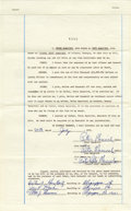Basketball Collectibles:Others, 1972 Peter Maravich Triple-Signed Last Will & Testament. Justtwenty-five when he signed this brief legal document bequeath...