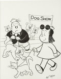Original Comic Art:Covers, Irving Tripp - Little Lulu Library Set VI Slipcase CoverIllustration Original Art (Another Rainbow, 1983). ...