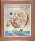 """Original Comic Art:Miscellaneous, Carl Barks - """"Sailing the Spanish Main"""" Lithograph Limited Edition#198/245 (Another Rainbow, 1982)...."""
