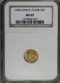 Commemorative Gold, 1904 G$1 Lewis and Clark MS63 NGC....