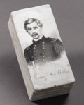 Political:3D & Other Display (pre-1896), George McClellan: Rare Ceramic Match Box...