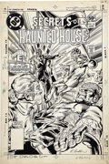 Original Comic Art:Covers, Rich Buckler and Steve Mitchell - Secrets of Haunted House #35Cover Original Art (DC, 1981). ...
