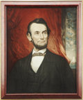 Political:Advertising, Abraham Lincoln: Unusual Large Lithographed Portrait, Probably anAdvertising Item Dating From the Early 20th Century....