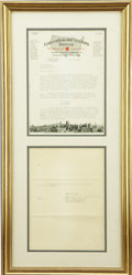 Political:Small Paper (1896-present), Harry S. Truman: Typed Letter Signed....